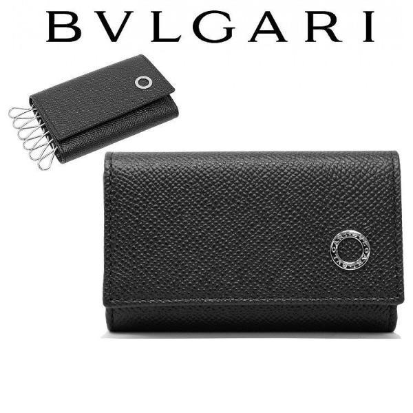 brand new ad1cf 51100 ブルガリ BVLGARI キーケース メンズ レディース 黒 6連 新品 284228
