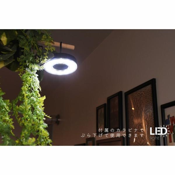 テント用 LED ランタン 電池式 カラビナ付き 軽量 携帯式 照明 ライト 防災 避難 対策 グッズ アウトドア キャンプ|aruarumarket|02