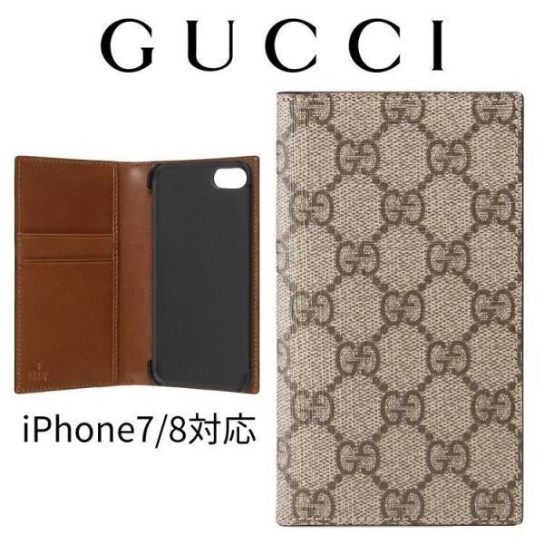 new styles 54d17 c0a21 グッチ iPhone 8 ケース 手帳型 iPhone7 GUCCI