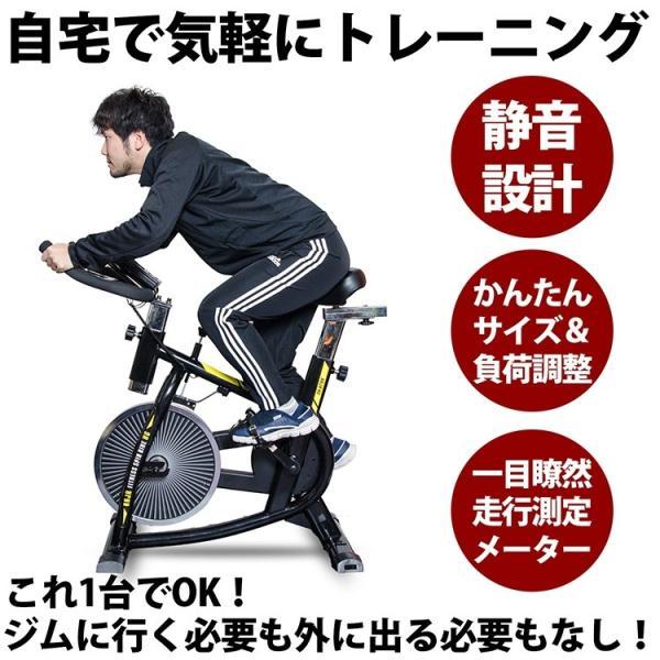 スピンバイク エアロバイク 家庭 室内 効果 トレーニング フィットネスバイク 自転車こぎ 運動 フィットネス アスレチック ジム [ta]|aruarumarket|03