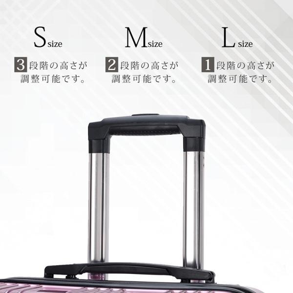 スーツケース 機内持ち込み Sサイズ ストッパー付 日本社製 HINOMOTO ダブルキャスター キャリーバッグ ポリカーボネート TSAロック 8輪 1泊〜3泊用 35L|arudake|07