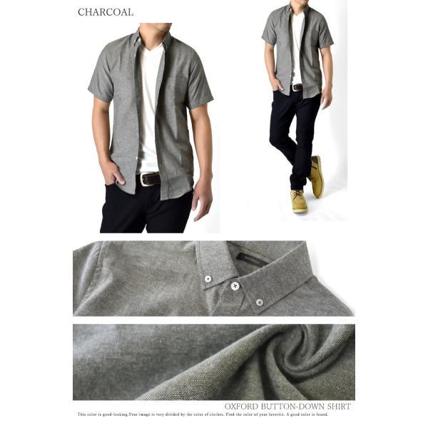 ボタンダウン カジュアルシャツ ミリタリーシャツ メンズ オックスフォード セール 半袖  クールビズ 開襟シャツ|aruge|06
