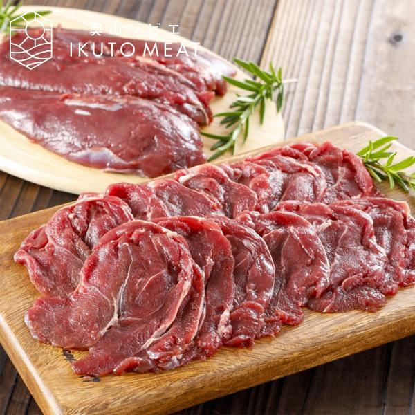鹿肉 肩肉 400g(約3mmスライス)ジビエ料理 送料無料 IKUTO MEAT #元気いただきますプロジェクト(ジビエ)|arumama