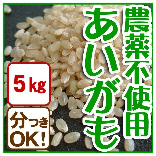 【平成29年産】 玄米(精米無)農薬不使用 白米 あいがも農法 お米 5kg 当日精米|arumama