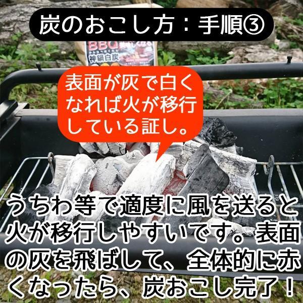 バーベキュー 炭 BBQ 木炭 2.5kg 着火剤付き|arumama|05