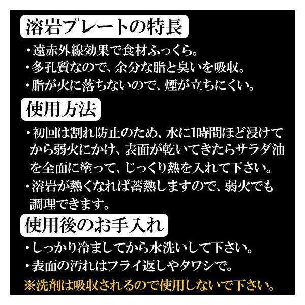溶岩プレート 炭火焼きセット 七輪 卓上コンロ 神鍋白炭 固形燃料 送料無料|arumama|05