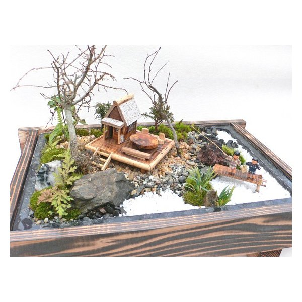 盆栽 ミニ庭園 盆景【湖畔の宿(M)】|arumama|04