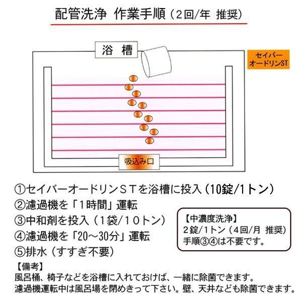 レジオネラ症対策 配管洗浄 セイバーオードリンST 20g×10錠|arumama|03