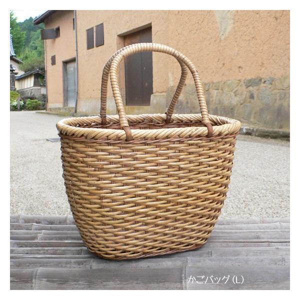 ラタン かごバッグ 籐かご 買い物かご バスケット(L)|arumama