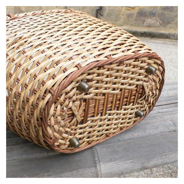 ラタン かごバッグ 籐かご 買い物かご バスケット(L)|arumama|04