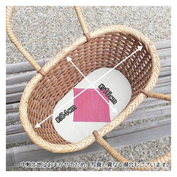 ラタン かごバッグ 籐かご 買い物かご バスケット(M)|arumama|03