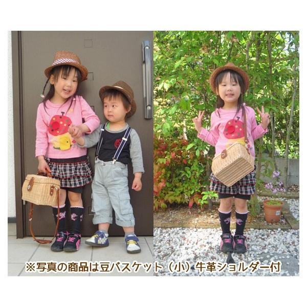 幼稚園 バスケット お弁当箱 ランチボックス 豆バスケット(小)籐かご 【入園 通園 グッズ】 arumama 05