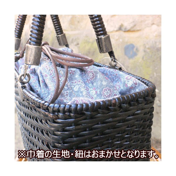 かごバッグ 皮籐バッグ 角型(大)|arumama|02