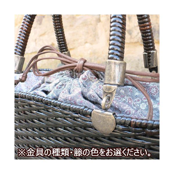 かごバッグ 皮籐バッグ 角型(大)|arumama|03