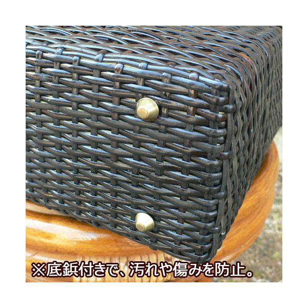 かごバッグ 皮籐バッグ 角型(大)|arumama|04