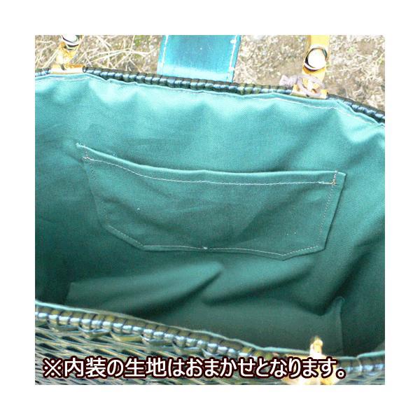 かごバッグ 皮籐バッグ(大)|arumama|03