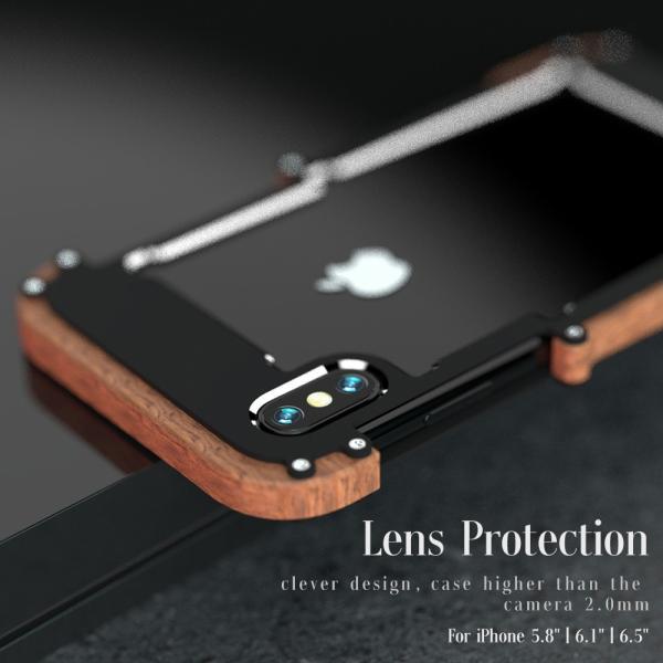 e3521d3cda 鉄の木 iphone Xs iphoneXs Max iphone XR ケース アルミバンパー+木製ケース 檀 ...