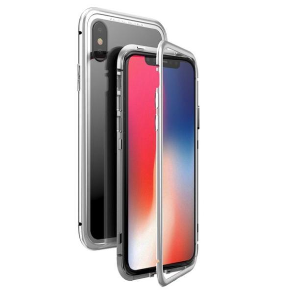 万磁王 iphone X アルミバンパーケース 贅沢透明ガラスプレート アイホンX合金フレーム マグネット自動吸着式 メタル フレーム金属人気合金|arunmui|11