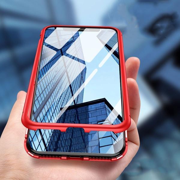 万磁王 iphone X アルミバンパーケース 贅沢透明ガラスプレート アイホンX合金フレーム マグネット自動吸着式 メタル フレーム金属人気合金|arunmui|19