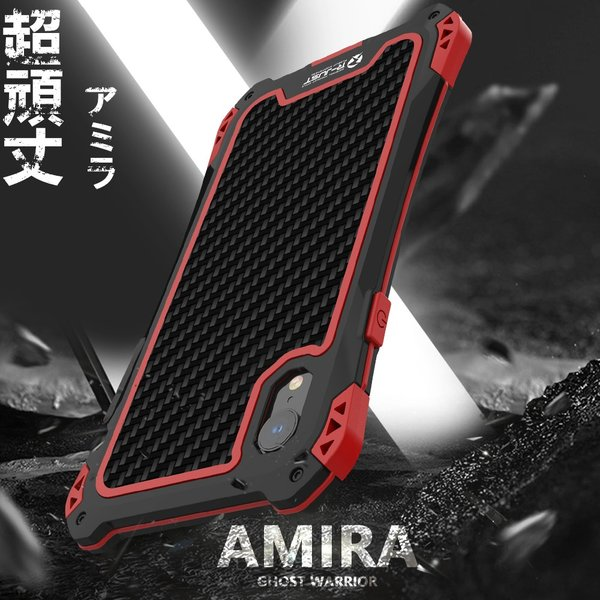 アミラ iPhone Xs iPhone Xs Max iPhoneXR ケース AMIRA 金属超頑丈メタル合金アルミバンパー 二重保護 アイフォン X ケース 合金フレーム ゴムアイフォンカバー|arunmui