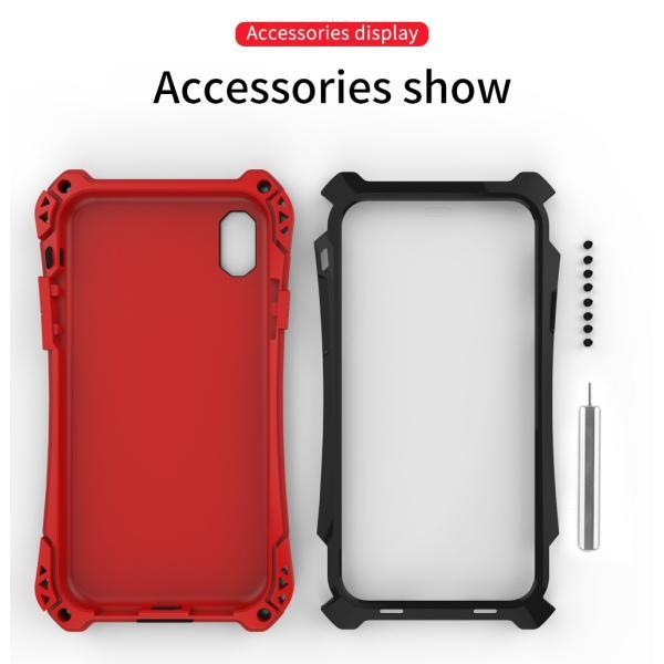 アミラ iPhone Xs iPhone Xs Max iPhoneXR ケース AMIRA 金属超頑丈メタル合金アルミバンパー 二重保護 アイフォン X ケース 合金フレーム ゴムアイフォンカバー|arunmui|18