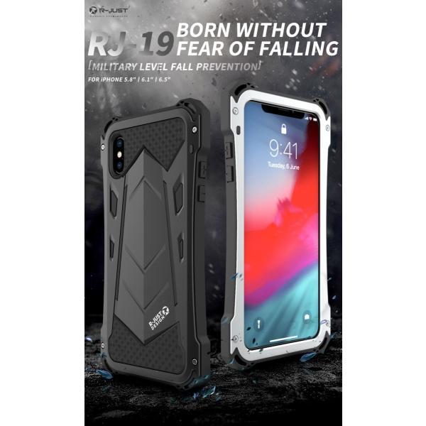 かっこいい iPhone XR iphoneXs Max iphone Xs ケース ARMOR メタル最強金属合金アルミバンパー 二重保護 超頑丈 ゴムアイフォンカバー|arunmui|02