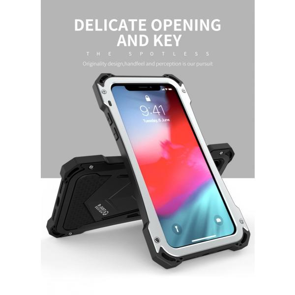 かっこいい iPhone XR iphoneXs Max iphone Xs ケース ARMOR メタル最強金属合金アルミバンパー 二重保護 超頑丈 ゴムアイフォンカバー|arunmui|13