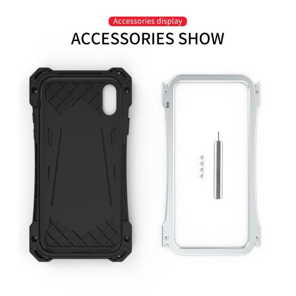 かっこいい iPhone XR iphoneXs Max iphone Xs ケース ARMOR メタル最強金属合金アルミバンパー 二重保護 超頑丈 ゴムアイフォンカバー|arunmui|14