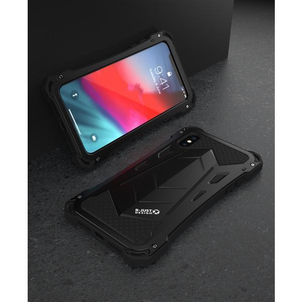 かっこいい iPhone XR iphoneXs Max iphone Xs ケース ARMOR メタル最強金属合金アルミバンパー 二重保護 超頑丈 ゴムアイフォンカバー|arunmui|17