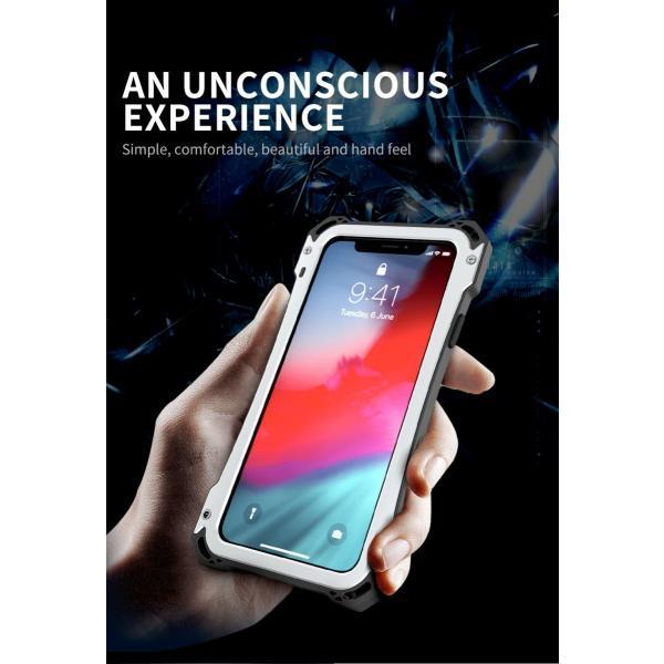 かっこいい iPhone XR iphoneXs Max iphone Xs ケース ARMOR メタル最強金属合金アルミバンパー 二重保護 超頑丈 ゴムアイフォンカバー|arunmui|04