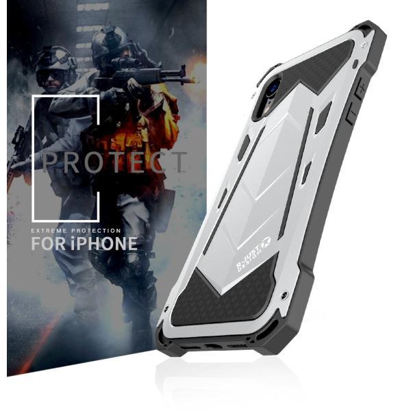 かっこいい iPhone XR iphoneXs Max iphone Xs ケース ARMOR メタル最強金属合金アルミバンパー 二重保護 超頑丈 ゴムアイフォンカバー|arunmui|05