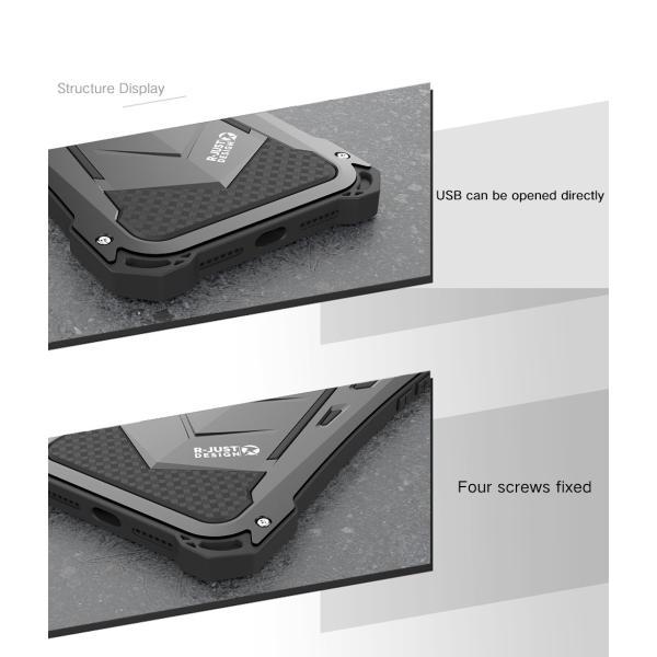 かっこいい iPhone XR iphoneXs Max iphone Xs ケース ARMOR メタル最強金属合金アルミバンパー 二重保護 超頑丈 ゴムアイフォンカバー|arunmui|09