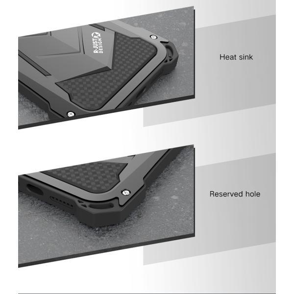 かっこいい iPhone XR iphoneXs Max iphone Xs ケース ARMOR メタル最強金属合金アルミバンパー 二重保護 超頑丈 ゴムアイフォンカバー|arunmui|10