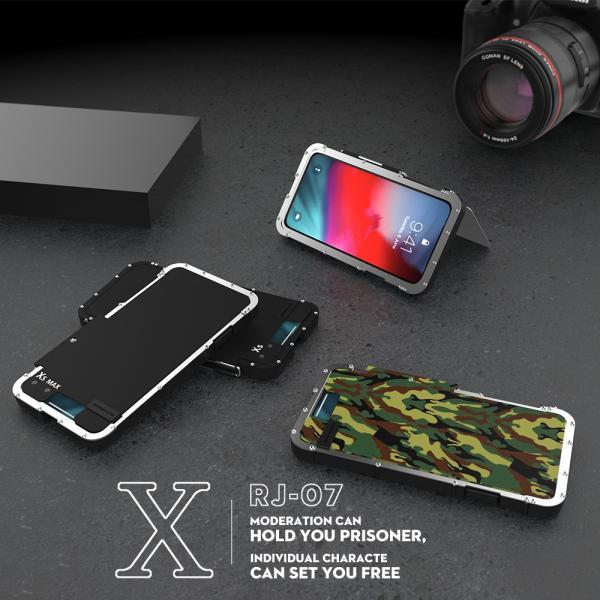 鋼鉄の王 iPhone XR iphoneXs Max iphone Xs ケース ARMOR KING 手帳型 横開き スタンド機能 史上最強ステンレス金属合金iphoneXカバーアルミバンパー|arunmui