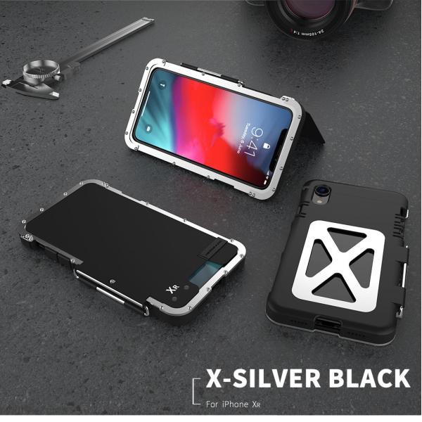 鋼鉄の王 iPhone XR iphoneXs Max iphone Xs ケース ARMOR KING 手帳型 横開き スタンド機能 史上最強ステンレス金属合金iphoneXカバーアルミバンパー|arunmui|11