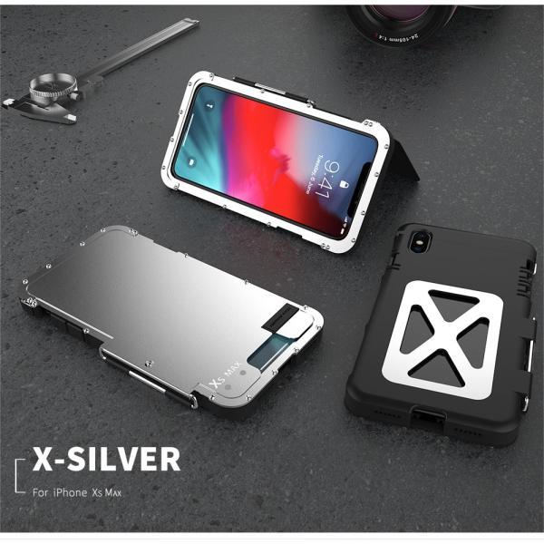鋼鉄の王 iPhone XR iphoneXs Max iphone Xs ケース ARMOR KING 手帳型 横開き スタンド機能 史上最強ステンレス金属合金iphoneXカバーアルミバンパー|arunmui|18