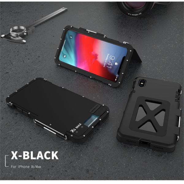 鋼鉄の王 iPhone XR iphoneXs Max iphone Xs ケース ARMOR KING 手帳型 横開き スタンド機能 史上最強ステンレス金属合金iphoneXカバーアルミバンパー|arunmui|19