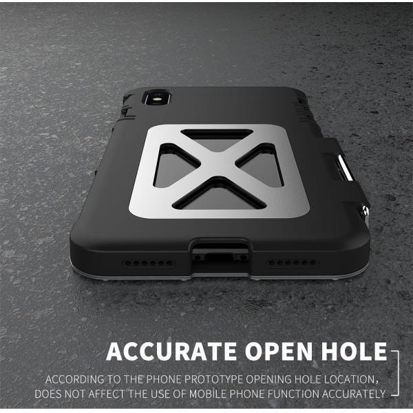鋼鉄の王 iPhone XR iphoneXs Max iphone Xs ケース ARMOR KING 手帳型 横開き スタンド機能 史上最強ステンレス金属合金iphoneXカバーアルミバンパー|arunmui|03