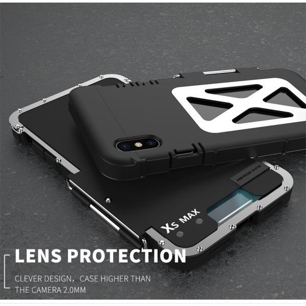 鋼鉄の王 iPhone XR iphoneXs Max iphone Xs ケース ARMOR KING 手帳型 横開き スタンド機能 史上最強ステンレス金属合金iphoneXカバーアルミバンパー|arunmui|04