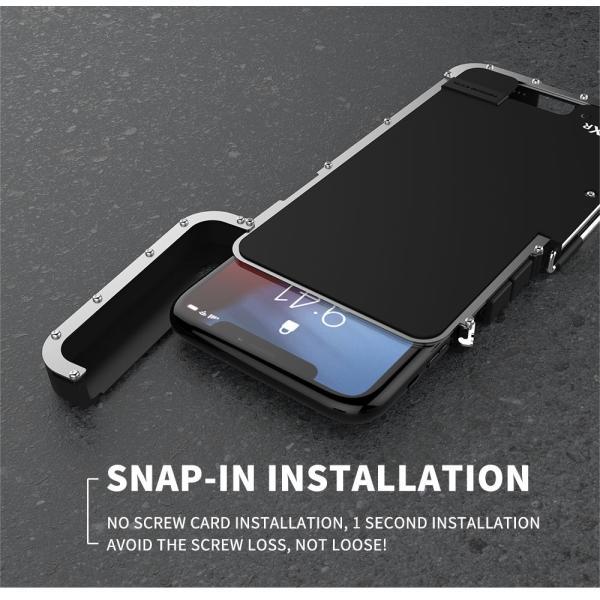 鋼鉄の王 iPhone XR iphoneXs Max iphone Xs ケース ARMOR KING 手帳型 横開き スタンド機能 史上最強ステンレス金属合金iphoneXカバーアルミバンパー|arunmui|07