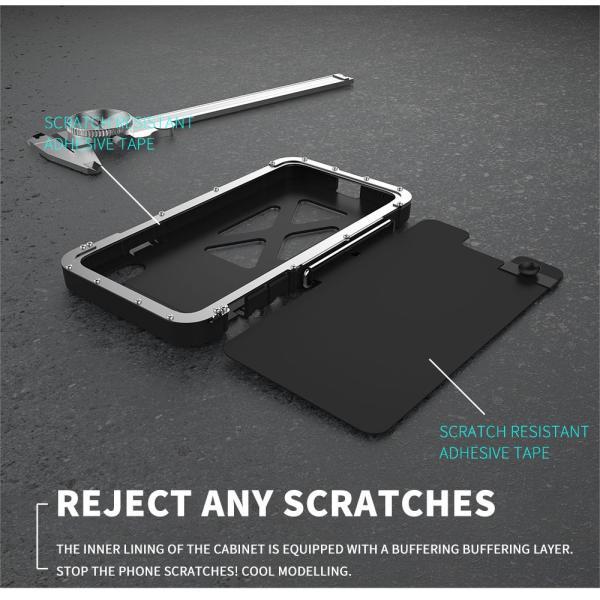 鋼鉄の王 iPhone XR iphoneXs Max iphone Xs ケース ARMOR KING 手帳型 横開き スタンド機能 史上最強ステンレス金属合金iphoneXカバーアルミバンパー|arunmui|08