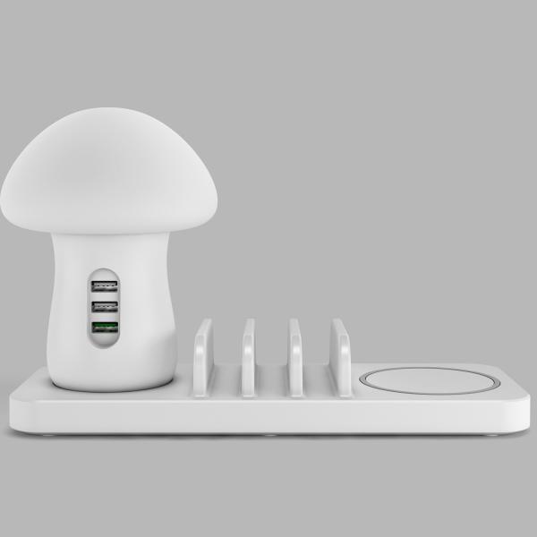 きのこ かわいい Qi ワイヤレス無線 充電スタンド  iPhone Xperia Galaxy スマホ 多機能ワイヤレスチャージドック Androidスマートフォン 高速充電|arunmui|02