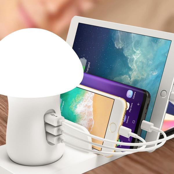 きのこ かわいい Qi ワイヤレス無線 充電スタンド  iPhone Xperia Galaxy スマホ 多機能ワイヤレスチャージドック Androidスマートフォン 高速充電|arunmui|12