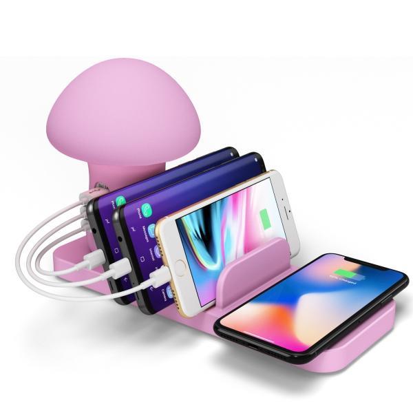 きのこ かわいい Qi ワイヤレス無線 充電スタンド  iPhone Xperia Galaxy スマホ 多機能ワイヤレスチャージドック Androidスマートフォン 高速充電|arunmui|17