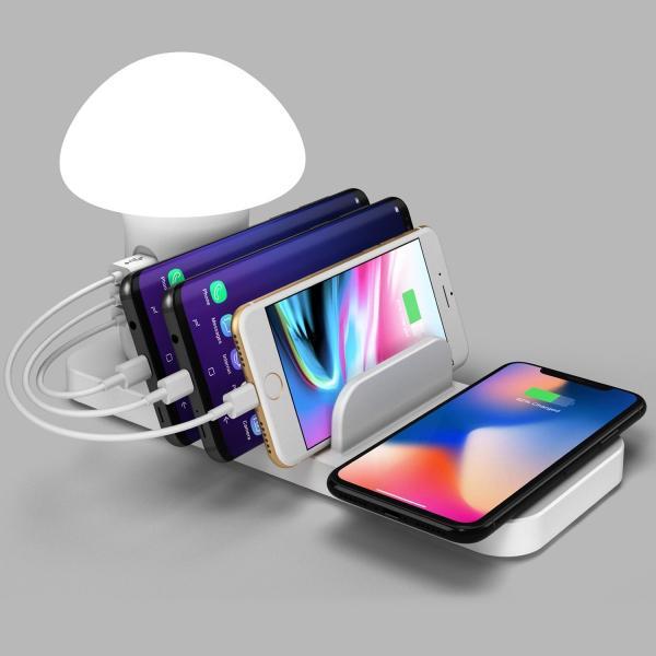 きのこ かわいい Qi ワイヤレス無線 充電スタンド  iPhone Xperia Galaxy スマホ 多機能ワイヤレスチャージドック Androidスマートフォン 高速充電|arunmui|03