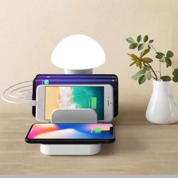 きのこ かわいい Qi ワイヤレス無線 充電スタンド  iPhone Xperia Galaxy スマホ 多機能ワイヤレスチャージドック Androidスマートフォン 高速充電|arunmui|07