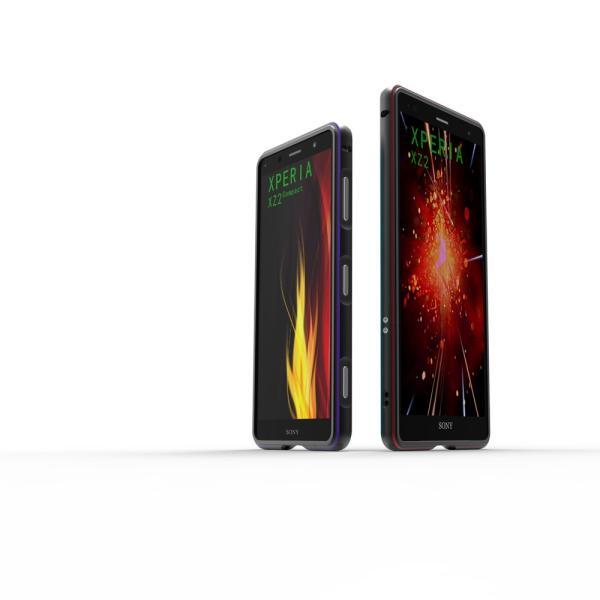 NEW色 極光 SONY Xperia XZ3 XZ2 Premium SO-04K ケース XZ2 SO-03K SOV37 XZ2Compact SO-05K アルミバンパー 鏡面仕上げ ストラップホール付き メタルフレーム|arunmui|02