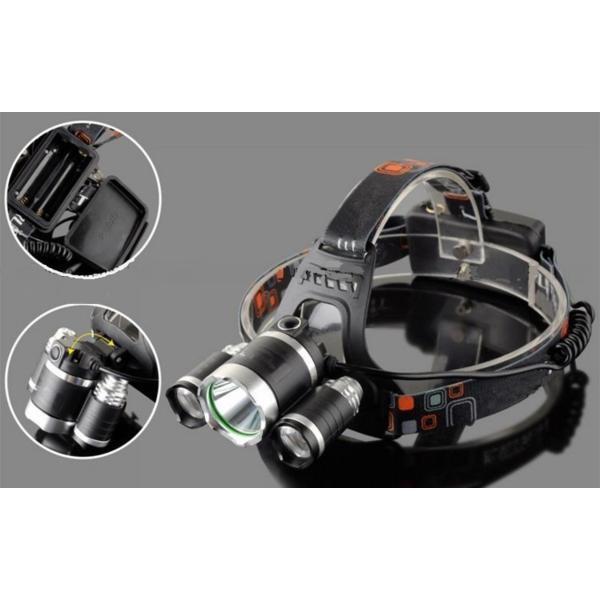 ヘッドライト CREE XM-L T6 2XPE  LED 3灯 5000LM
