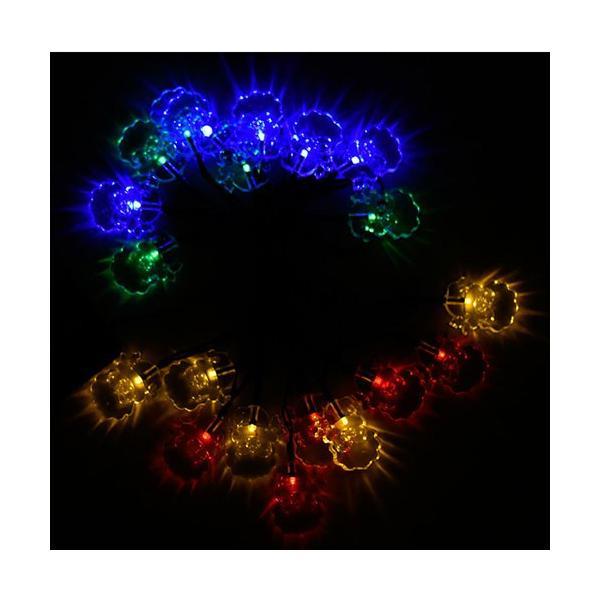 イルミネーション LED 屋外 ソーラー クリスマス ハロウィン LEDライト|arvasshop|05