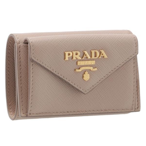 830129de209a プラダ PRADA 2019年春夏新作 三つ折り財布 ミニ財布 サフィアーノ 三つ折り財布